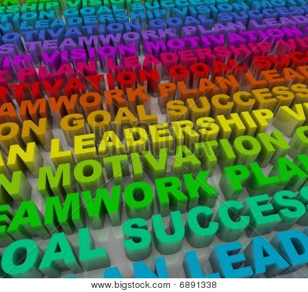 Principles Of Success - Colorful Words