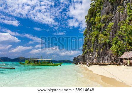Beach in Palawan Philippines