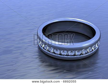 Flat Diamond Ring