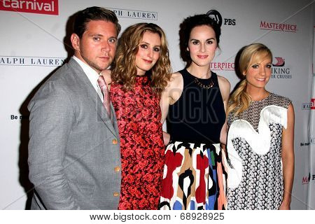 LOS ANGELES - JUL 22:  Allen Leech, Laura Carmichael, Michelle Dockery, Joanne Froggatt at the