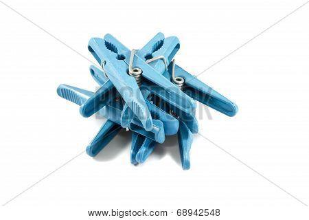 Plastic clothespegs