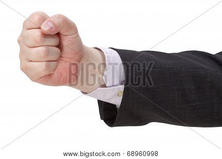 Side View Of Clenched Fist - Hand Gesture