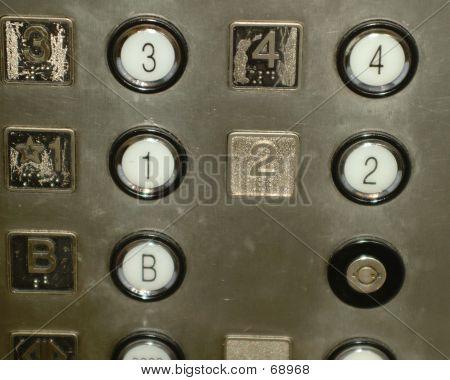 Numbers On Elevator