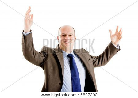 Happy And Successful Business Man