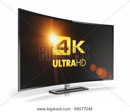 Curved 4K UltraHD TV