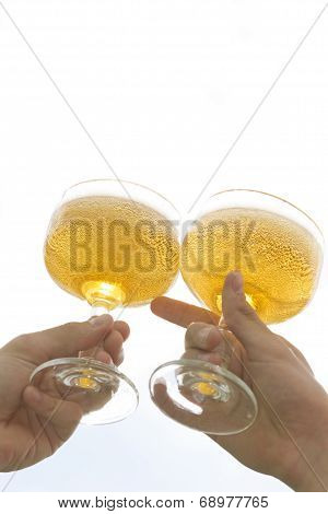 Two People Toasting