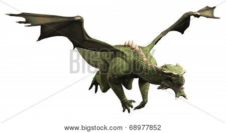 Green Dragon in Flight
