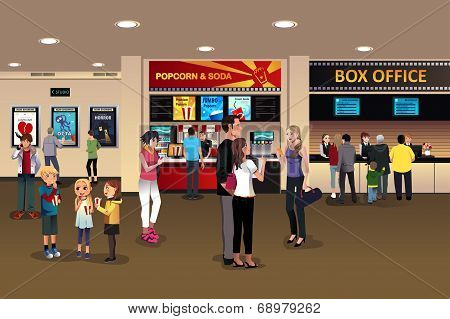Scene In The Movie Theater Lobby
