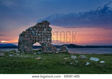 Ruins Of Bishop House At Iona Abbey
