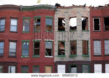 Abandoned Row Houses