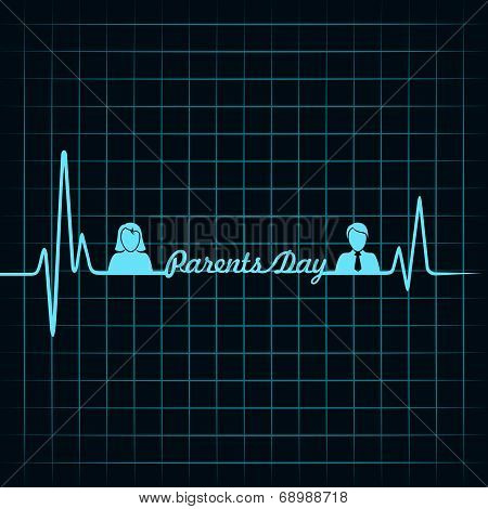creative happy parents day background vector