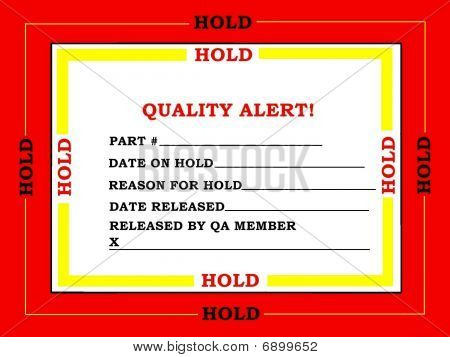 Quality Control Tag