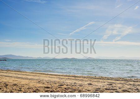 Mar Menor sea with sandy beach