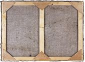 Wooden frame for canvas made of pine planks. Isolated with patch poster