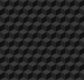 Simple black geometric seamless background. Vector illustration poster