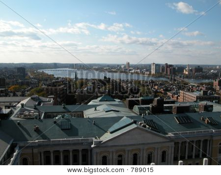 Boston Cityscape With Mit And Beacon Hill