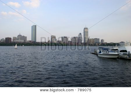 Boston Cityscape With Skyskrapers