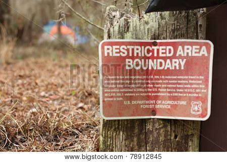 restricted area boundry