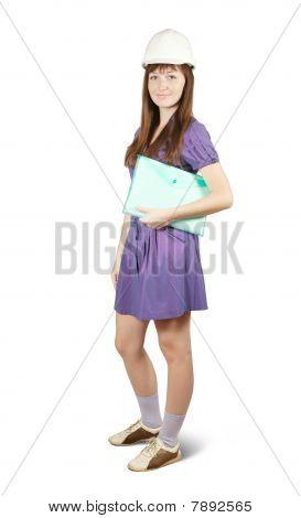 Businesswoman In Hard Hat