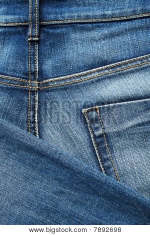 Denim Stoff close up