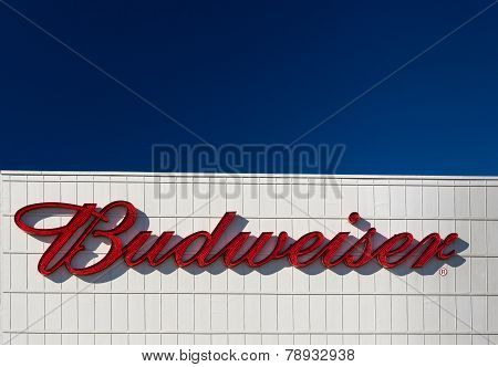 Budweiser Brewery Exterior And Sign