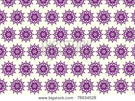 Dark Purple Retro Bloom And Arrow Shape And Lobe Pattern On Pastel Background