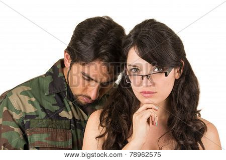 distraught military soldier veteran ptsd