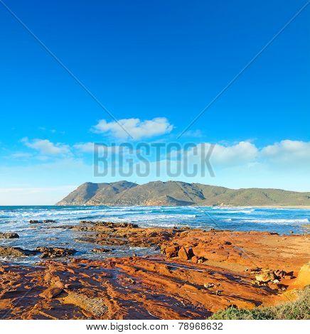 Red Rocks By The Shore In Porto Ferro