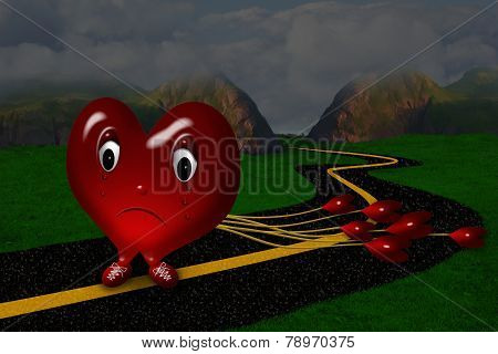 Sad Crying Heart