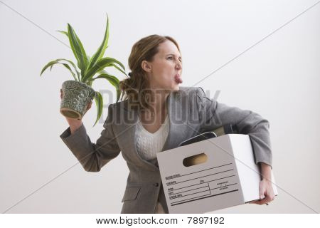 Businesswoman Makes a Silly Face