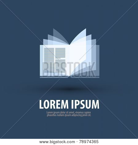 Book. Logo, icon, symbol, template, emblem