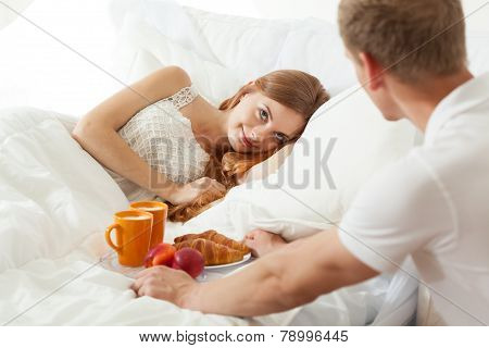 Wake up with breakfast in bed for truelove poster