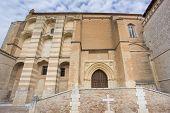 Santa Clara Convent in Tordesillas, front view of facade, wide angle poster