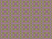 abstract green and pink shapes in mosaic squares pattern for fabric or wrapping paper poster