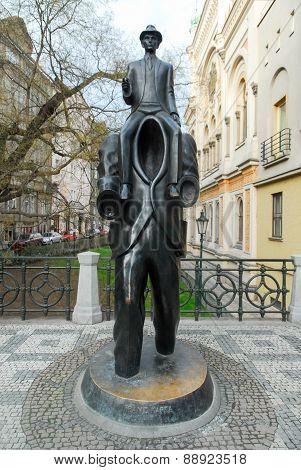 Franz Kafka Statue - Prague, Czech Republic