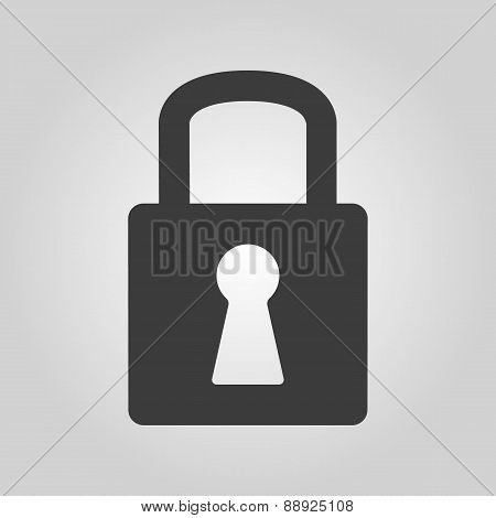 The Lock Icon. Lock Symbol. Flat