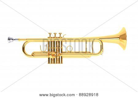 Polished Brass Trumpet