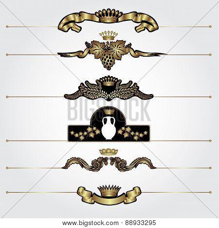 Heraldic Gold Luxury Decor Element
