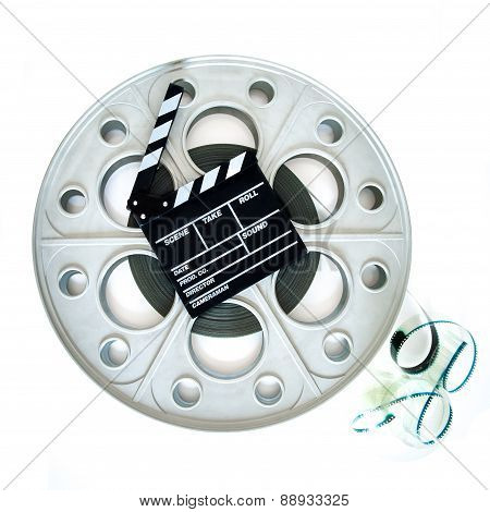 Original Big Movie Reel For 35Mm Cinema Projector With Clapper