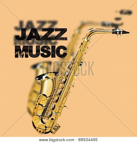 Jazz Music On A Beige Background