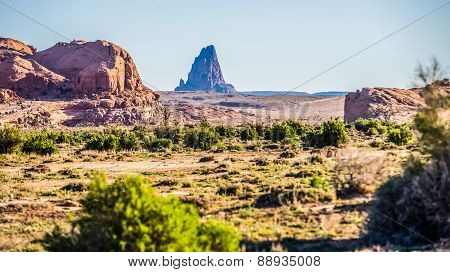 El Capitan Peak Just North Of Kayenta Arizona In Monument Valley