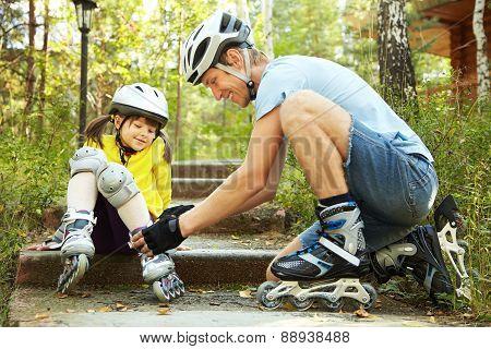 dressing roller skates