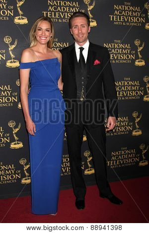 LOS ANGELES - FEB 24:  Ashlan Gorse, Philippe Cousteau Jr. at the Daytime Emmy Creative Arts Awards 2015 at the Universal Hilton Hotel on April 24, 2015 in Los Angeles, CA
