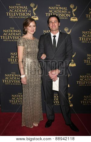 LOS ANGELES - FEB 24:  Mr & Mrs Gib Gerard at the Daytime Emmy Creative Arts Awards 2015 at the Universal Hilton Hotel on April 24, 2015 in Los Angeles, CA