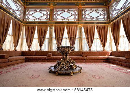 Interior of the Topkapi Palace, Istanbul, Turkey.