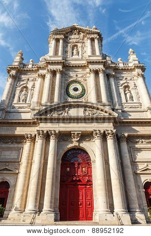 Paroisse Saint Paul Saint Louis Church Paris France poster