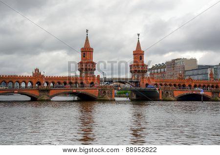 Oberbaum bridge in Berlin.
