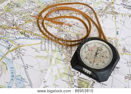 the altimeter on the map