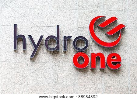 Hydro One Sign In Headquarters Wall