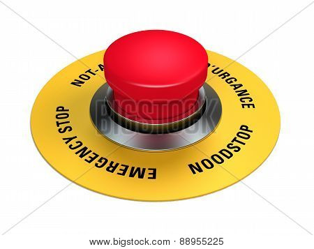 emergency stop button to interrupt industrial production poster